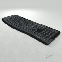 microsoft curve keyboard 3d obj