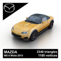 2013 mazda mx-5 miata 3d model