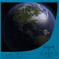 free earth clouds 3d model