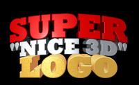 3d model logo text extrude