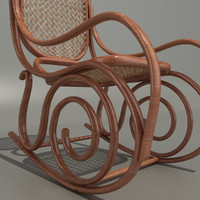 3d model thonet chair