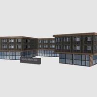 clinic hospital 3d model