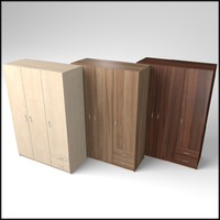 veneered wardrobe 3d model