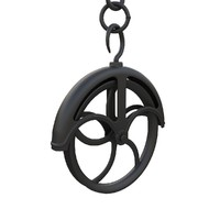 antique pulley 3ds