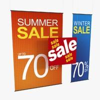 retail hanging signage fbx