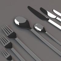 cutlery set 3d obj