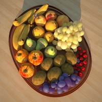 3d model fruits bowl