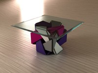 3d model cube table hypercube