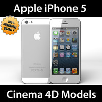 c4d apple iphone 5 white