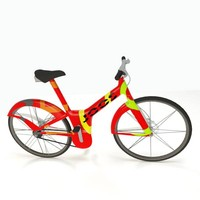 modern electric bike 3d max