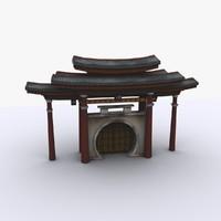 3d medieval japan entry model