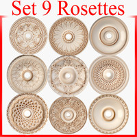 3d model rosettes petergof set