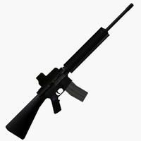 3d model m16a4 assault rifle