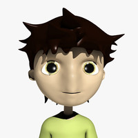3d model comic boy character