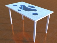 3ds table wood