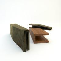 3d model bench designed 2006