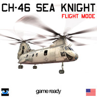 CH-46 Sea Knight with Translucent Rotor Disk