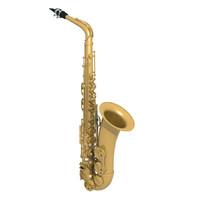 alto sax saxophone 3d max
