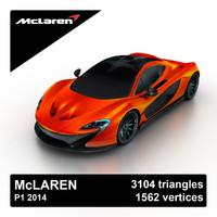 2014 mclaren p1 concept 3d model