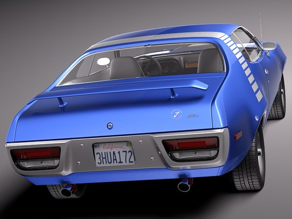 3d muscle antique 1971 sport model - Plymouth Road Runner GTX 1971-1975... by squir