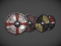 3d model shield pack 1 -