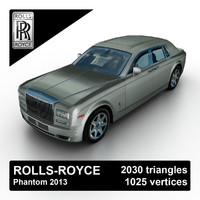 3d model 2013 rolls-royce phantom luxury