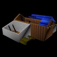 warcraft 2 sawmill obj