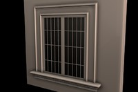 window exterior home 3d model