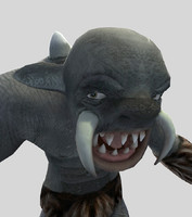 3ds max character troll monster