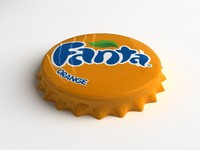 Fanta Orange Bottle Tin Cap