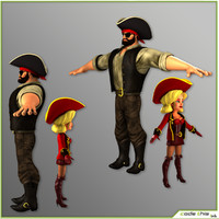 3d pirates female male