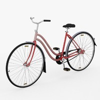lady bicycle 3d model