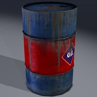 3d industrial drum barrel oil model