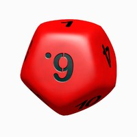 blender sided dice