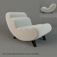 soft cloud chair lisa 3d model