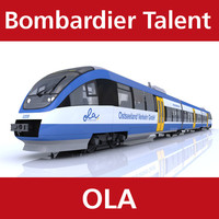 talent passenger train ostseeland 3d model