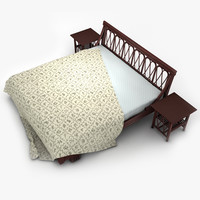 rattane bed lwo