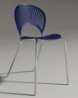 chair trinitad style blu 3d model