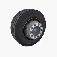 city bus wheel 3d model