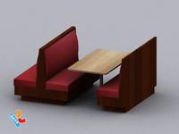 3d model restaurant sofa