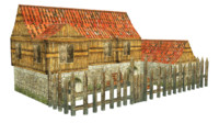 house home build castel town rts game model strategy low