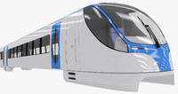 3d 3ds train monorail
