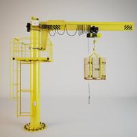 3d model of crane
