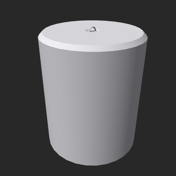 3d model concrete block - Round Conrete Block... by SuIXo