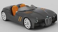 3d bmw 328 hommage concept model