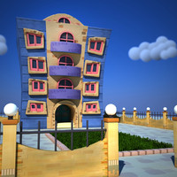 3d model building fence