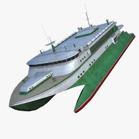 3ds max catamaran