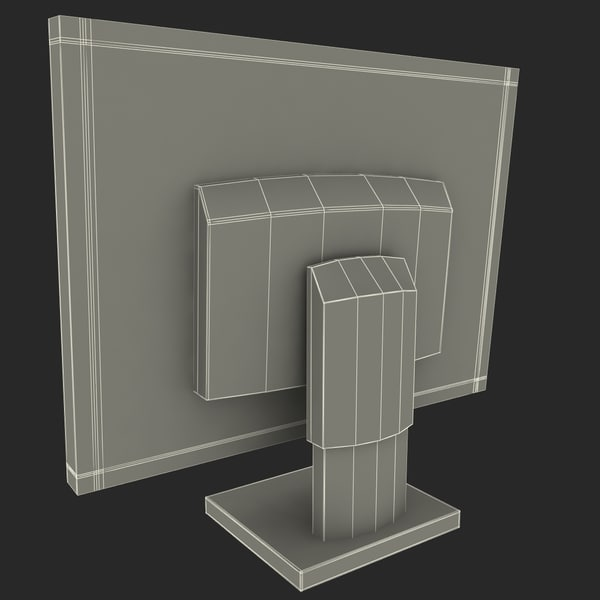 3d model of pc computer monitor - Low Poly PC Collection... by 3d_molier