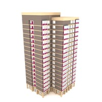 3d model block flats background