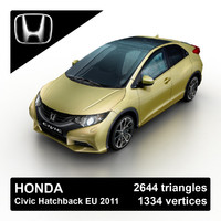 3ds max 2011 honda civic hatchback